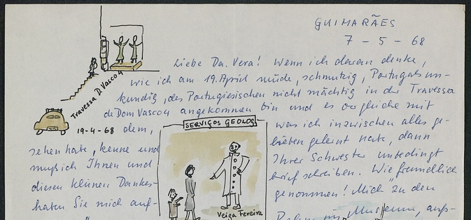 Letter of Philine Kalb to Vera Leisner, dated 1968