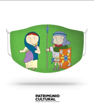 <p>Reusable / washable social textile mask for children, inspired by Roman characters who have inhabited our territory over time.<br /><br />- Size S<br />- Level 3 protection certified by CITEVE<br />- Composition: 100% polyester<br />- Includes 5 TNT filters<br />- Washable at 60º<br />- Made in Portugal</p>